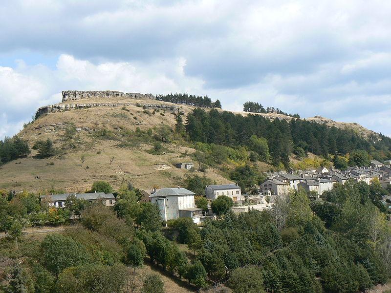 La ville de Barre-des-Cevennes